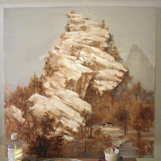 郑沂蒙 《沂蒙秋》,个人创作油画