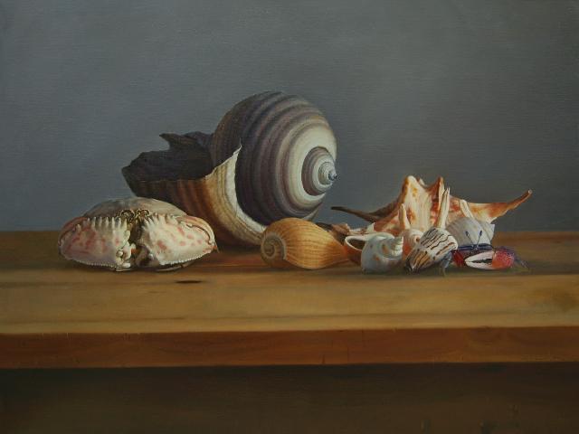 《静静的海贝二》 邬科特 亚麻布油画