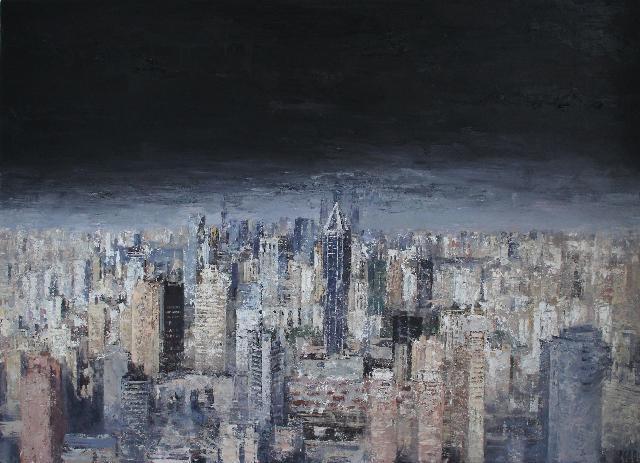 记忆之城之二 王小双 布面油画