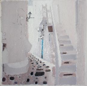 作品 路过系列之---白色扶梯-3