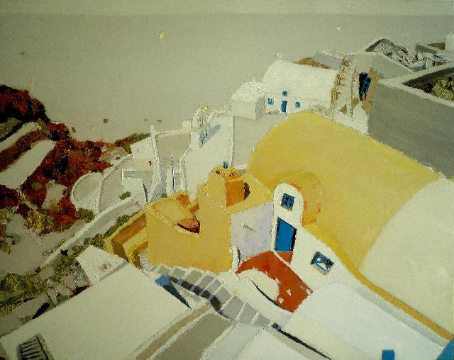 天堂城系列之十 任敏  亚麻油彩