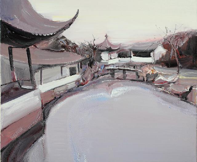 古典园林-2 吴俊卉 油画颜料 亚麻布 杉木内框 手工底