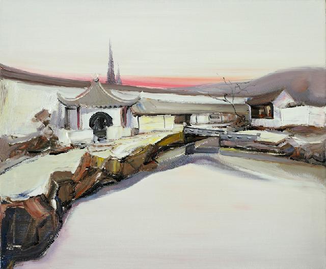 古典园林-12 吴俊卉 油画颜料 亚麻布 杉木内框 手工底