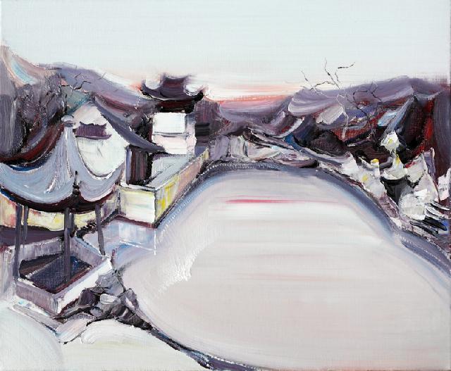 古典园林-16 吴俊卉 油画颜料 亚麻布 杉木内框 手工底