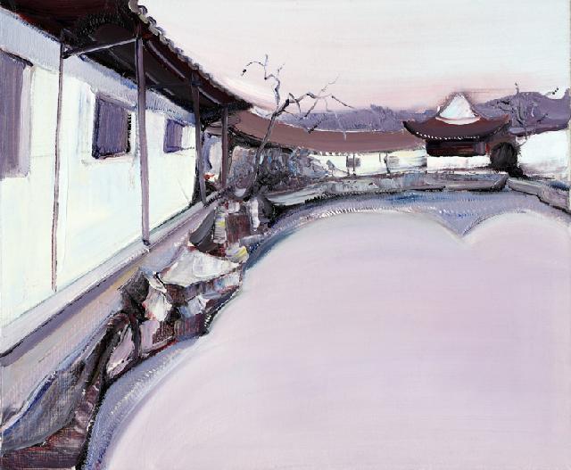 古典园林-19 吴俊卉 油画颜料 亚麻布 杉木内框 手工底