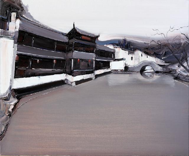 古典园林-39 吴俊卉 油画颜料 亚麻布 杉木内框 手工底