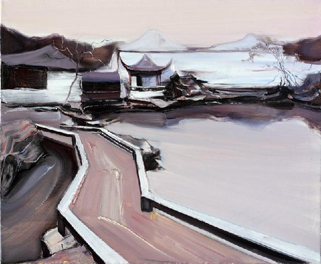 古典园林-40 吴俊卉 油画颜料 亚麻布 杉木内框 手工底