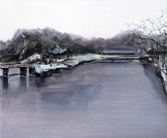 古典园林-47 吴俊卉 油画颜料 亚麻布 杉木内框 手工底