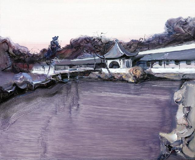 古典园林-48 吴俊卉 油画颜料 亚麻布 杉木内框 手工底