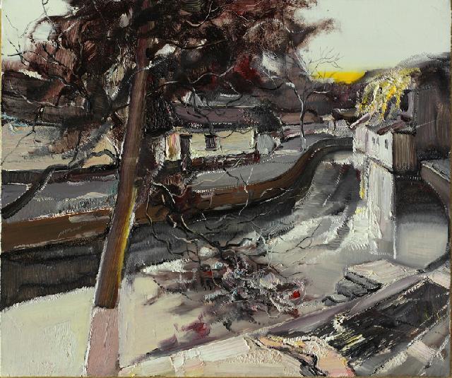 水乡民居-6 吴俊卉 油画颜料 亚麻布 杉木内框 手工底