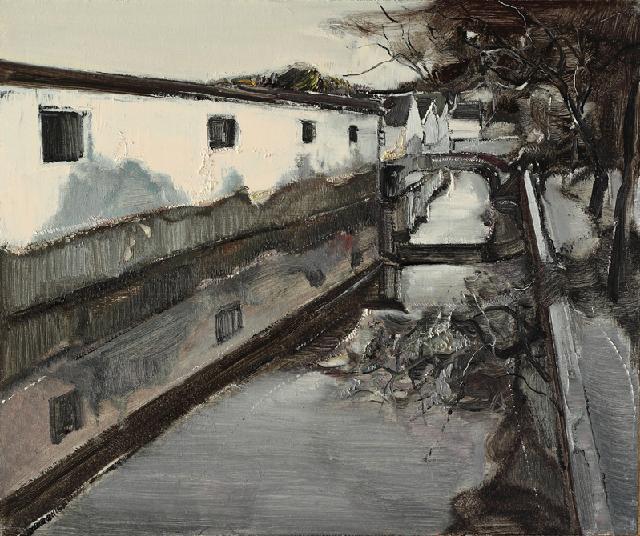 水乡民居-8 吴俊卉 油画颜料 亚麻布 杉木内框 手工底