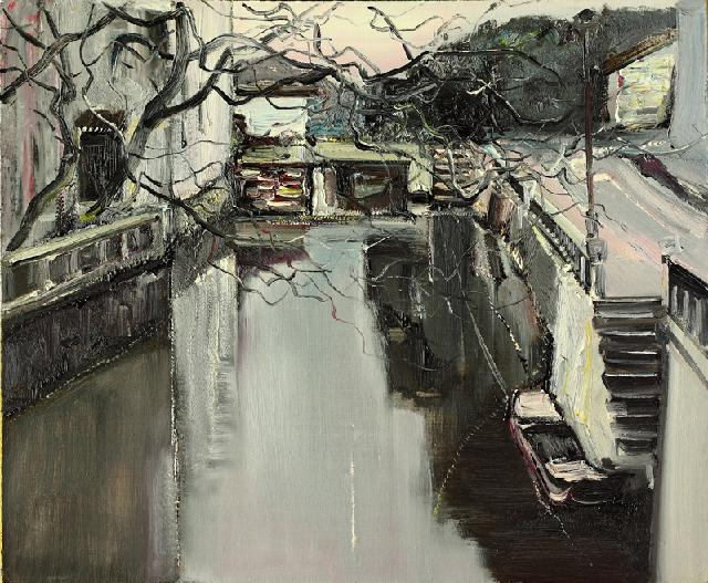 水乡民居-11 吴俊卉 油画颜料 亚麻布 杉木内框 手工底