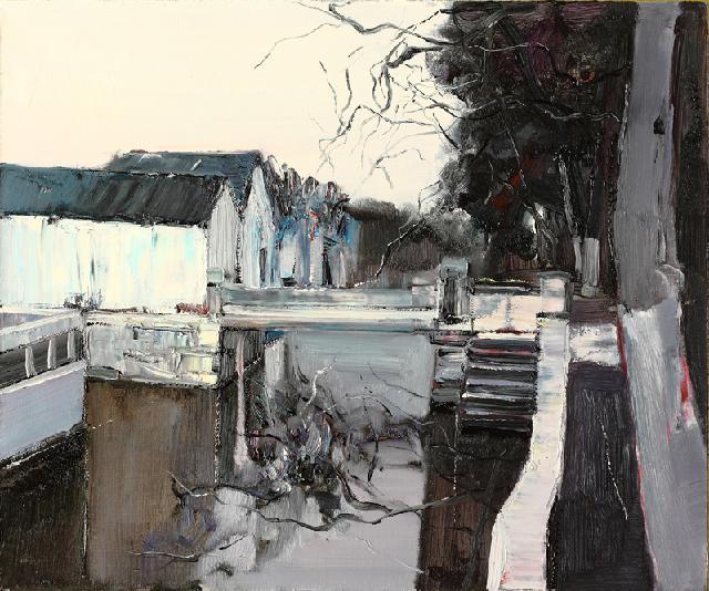 水乡民居-12 吴俊卉 油画颜料 亚麻布 杉木内框 手工底