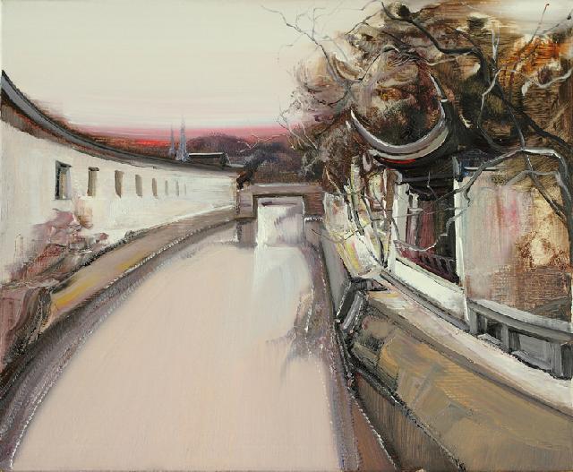水乡民居-29 吴俊卉 油画颜料 亚麻布 杉木内框 手工底