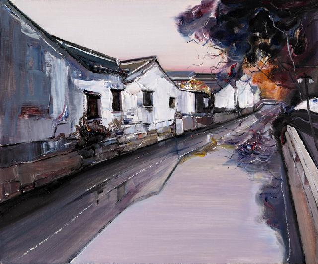 水乡民居-49 吴俊卉 油画颜料 亚麻布 杉木内框 手工底