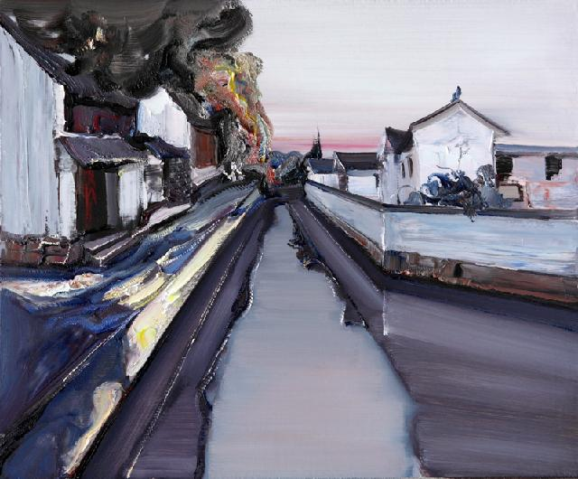 水乡民居-52 吴俊卉 油画颜料 亚麻布 杉木内框 手工底