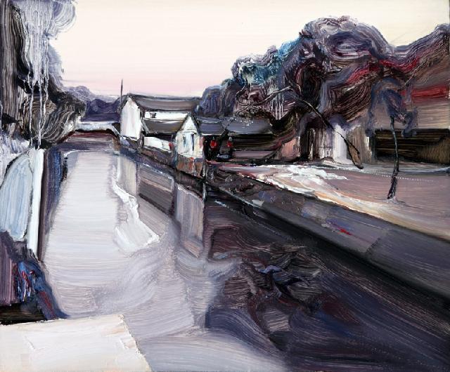 水乡民居-59 吴俊卉 油画颜料 亚麻布 杉木内框 手工底