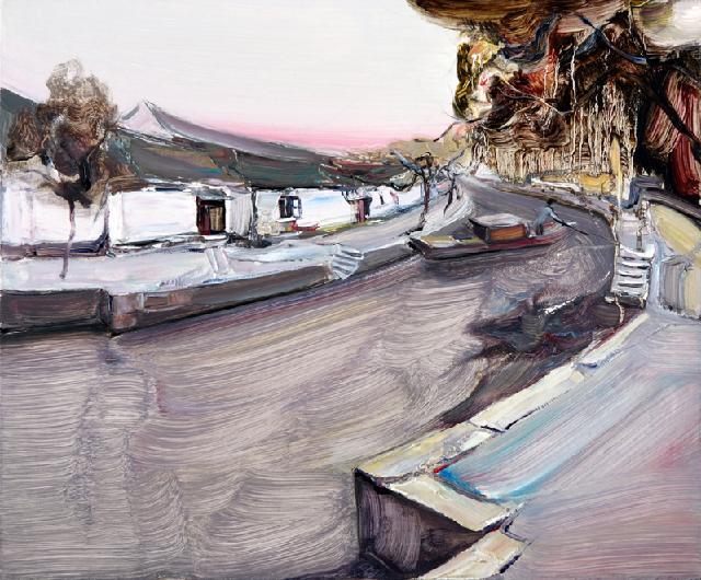 水乡民居-61 吴俊卉 油画颜料 亚麻布 杉木内框 手工底