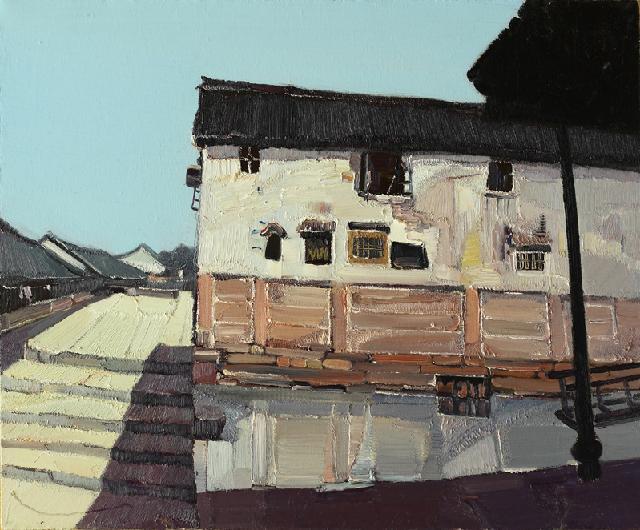 水乡民居-1 吴俊卉 油画颜料 亚麻布 杉木内框 手工底