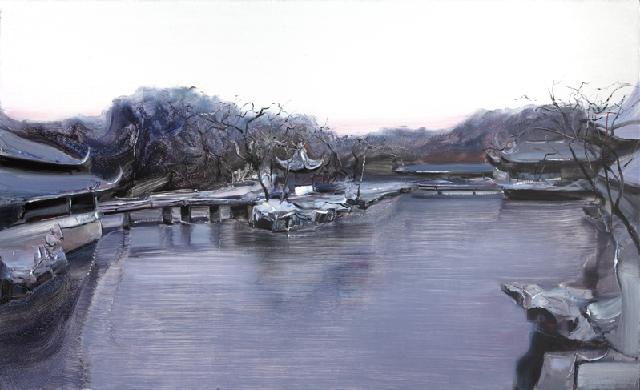 古典园林-49 吴俊卉 油画颜料 亚麻布 杉木内框 手工底