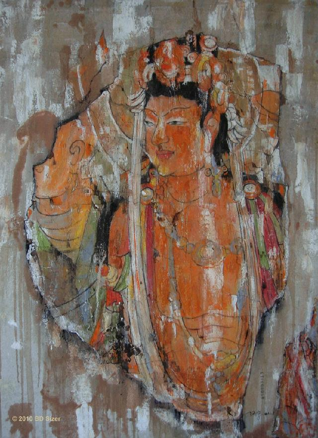 古韵2 罗卫民 硅钙板油画