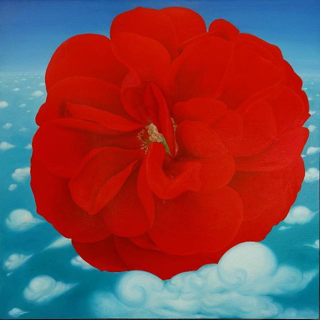 《幸福的花儿》 夏云超 布面油画