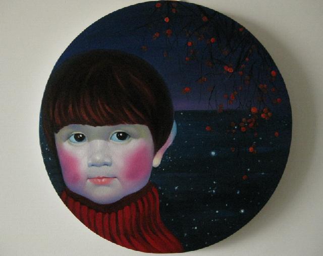 《苹果妹妹》 夏云超 布面油画