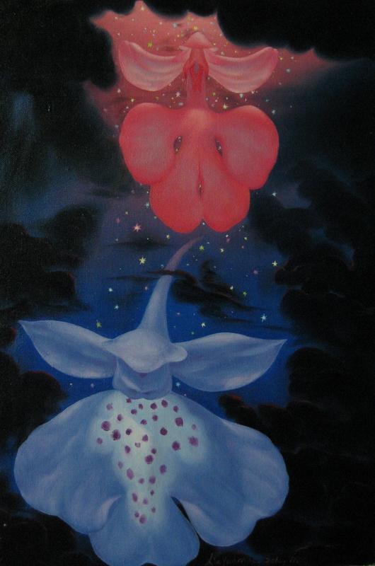 《仙女下凡》 夏云超 布面油画