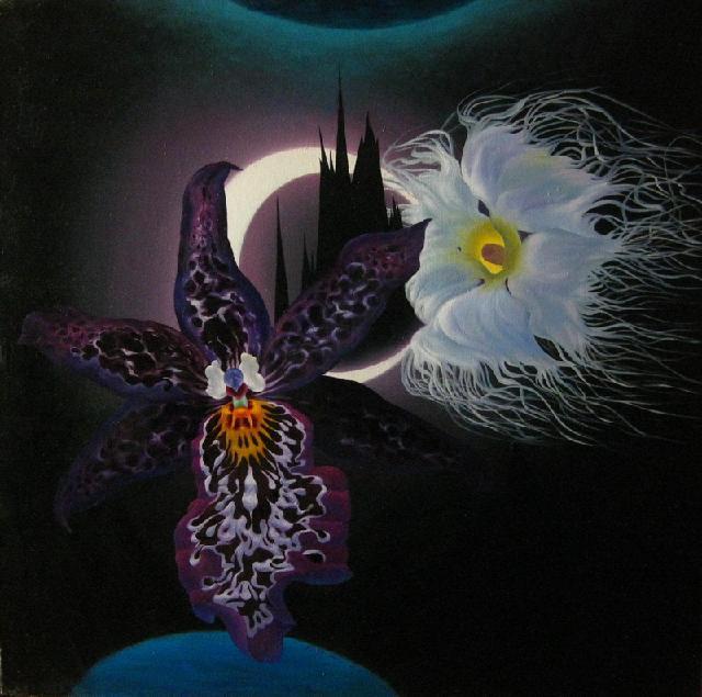 《黑白魔法师》 夏云超 布面油画