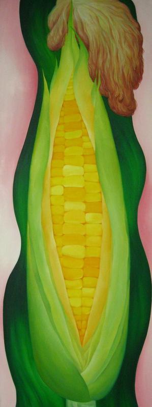 《大玉米》 夏云超 布面油画
