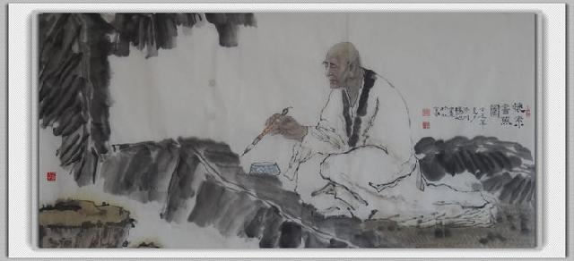 怀素书蕉图 杨旭 宣纸