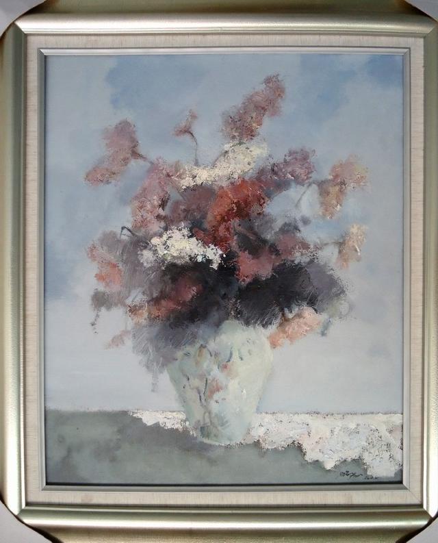 青花系列之十一 伍鹏飞 布面油画