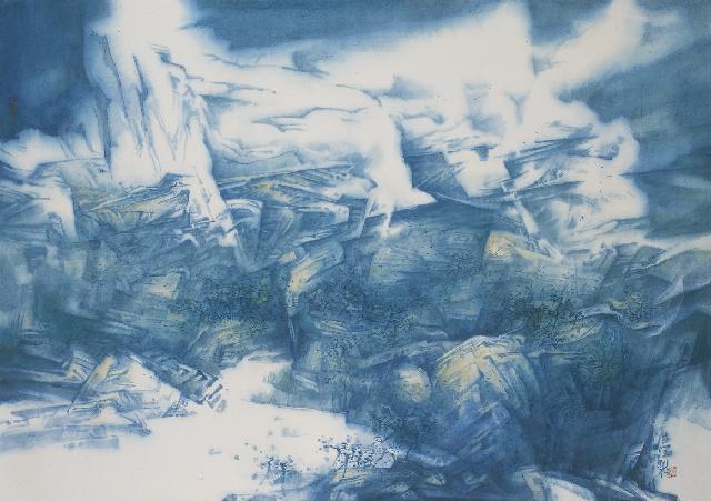 天象 孔德润 纸本中国画