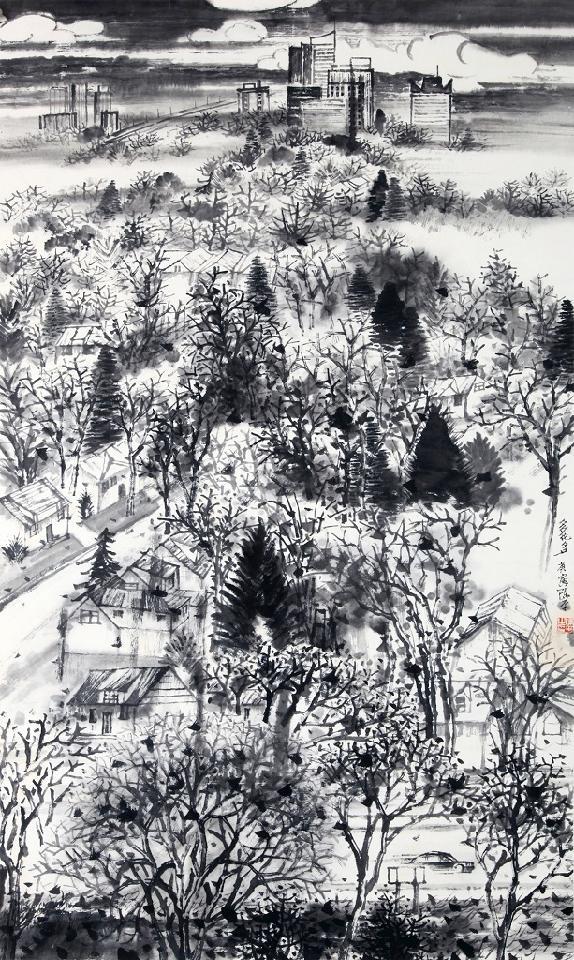 山水系列-1 陈平 纸本水墨