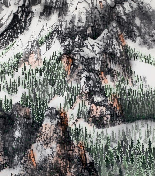 山水系列-12 陈平 纸本水墨