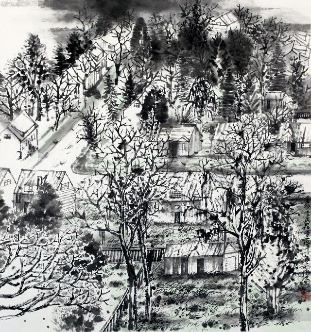 山水系列-14 陈平 纸本水墨