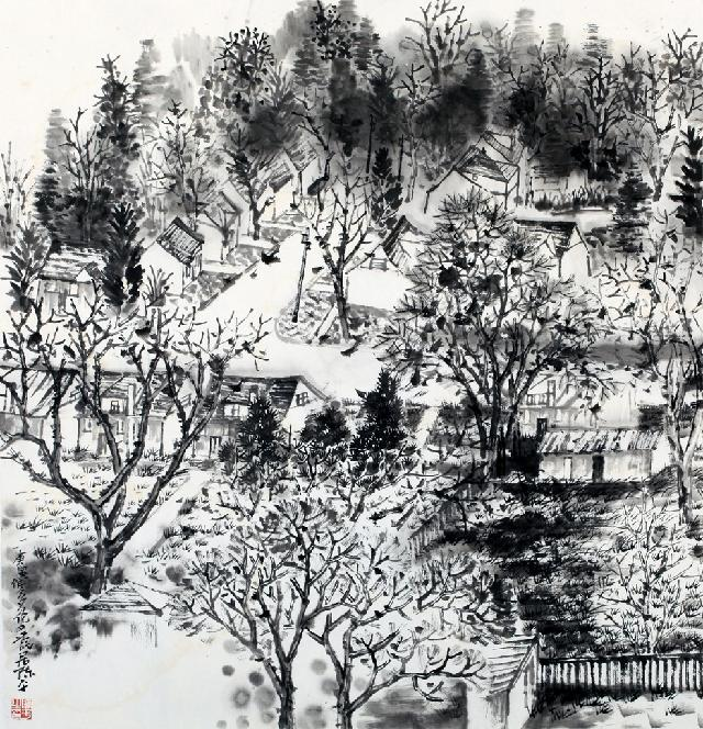 山水系列-15 陈平 纸本水墨