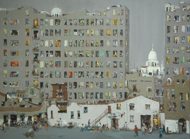 城市记忆 杜海军 画布油彩