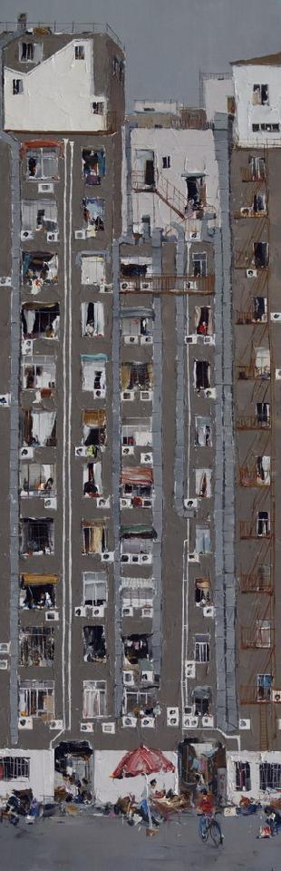 城市音弦 杜海军 画布油彩