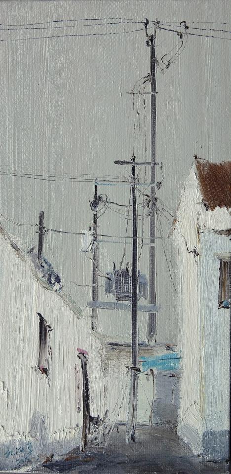 电线杆 杜海军 布面油彩
