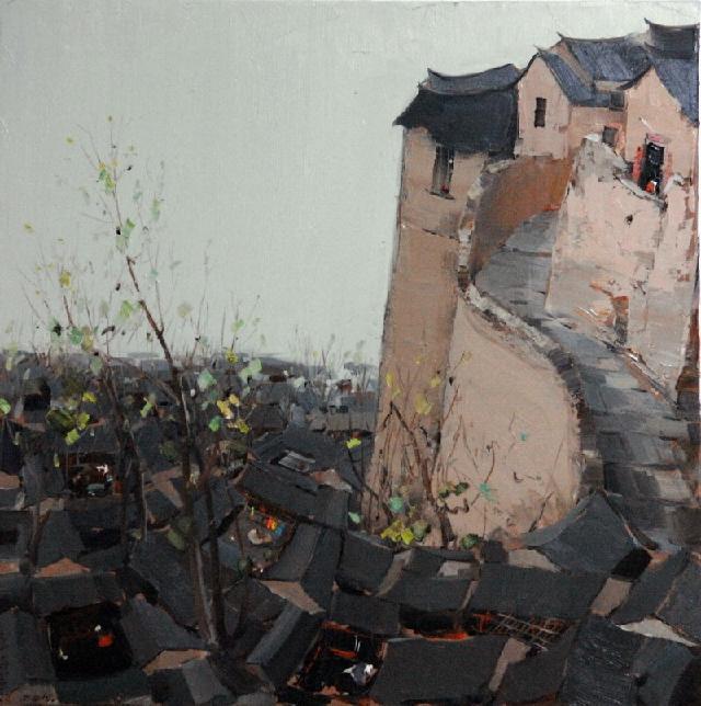 京郊古村落 杜海军 布面油彩