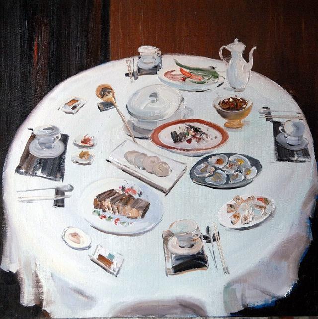 晚餐 杜海军 布面油彩