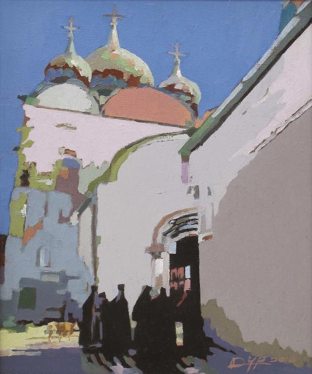 俄罗斯苏斯达里小镇(二) 杜永平 油画