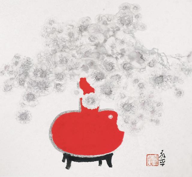瓶画系列2013-5 杜永平 纸本水墨