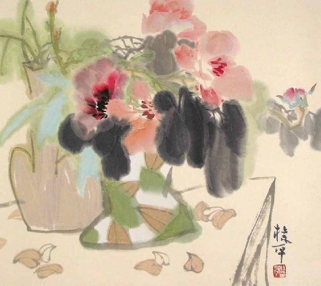 瓶花系列二 杜永平 宣纸