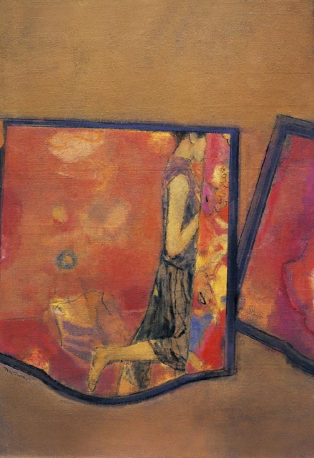 001(Spiritual garden Series——Mirror 後園系列——鏡子 陆云华 亚麻油彩