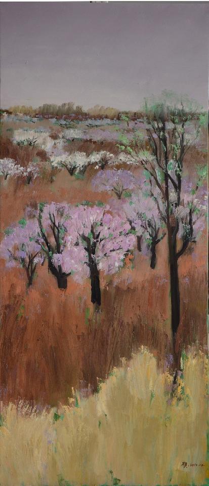 路过春天之一 汪硕 布面油画