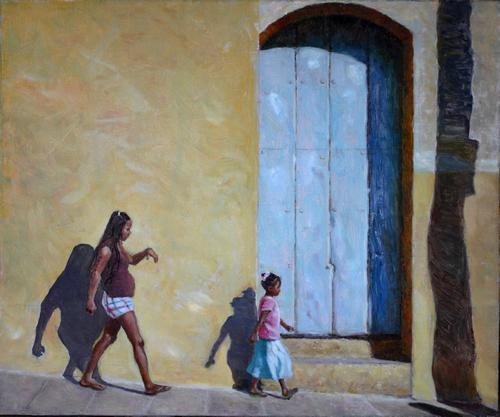 地中海 杜佳 布面油画