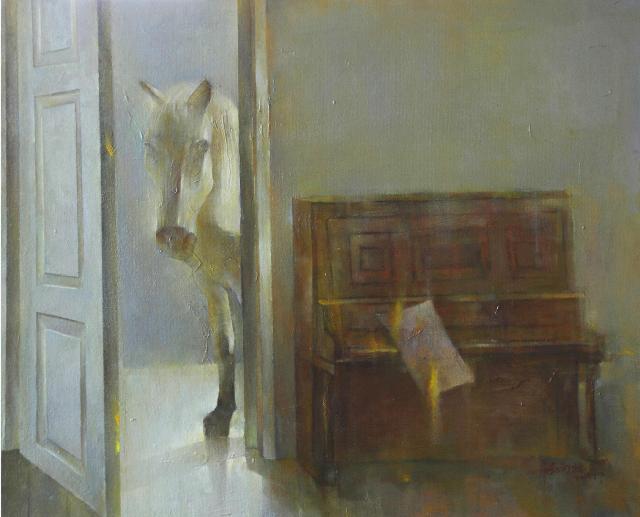 轻轻地敲打我心窗 张向壮 布面油画
