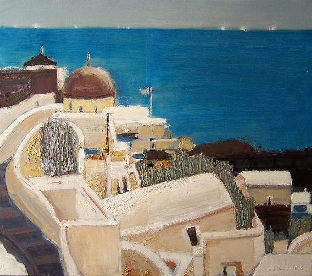 天堂城之九——珍珠海岸 任敏 画布油彩
